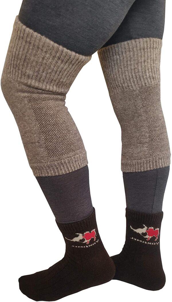 knee warmer: wear outside long john